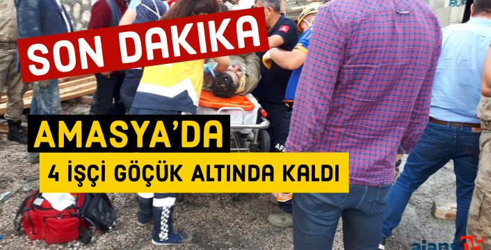Amasya ETAŞ tesislerinde göçük oldu. Yaralılar var