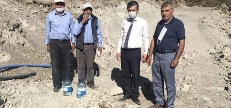 İbrahim Kaya köy köy hizmetleri kontrol ediyor